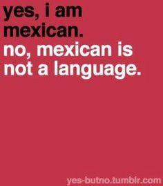aunque no soy méxicano... siempre tenía que explicar a mis estudiantes en Kentucky que méxicano no es un idioma...