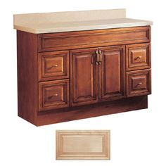Insignia Ridgefield Medium Oak Traditional Bathroom Vanity Common X Actual We Will Likely Have To Replace The Cabinet As Well