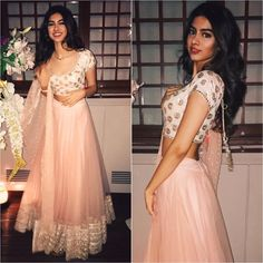 Khushi Kapoor Outfit - Styled by - Mehndi, Henna, Indian Look, Indian Ethnic Wear, Indian Wedding Outfits, Indian Outfits, Indian Weddings, Bollywood Fashion, Bollywood Style