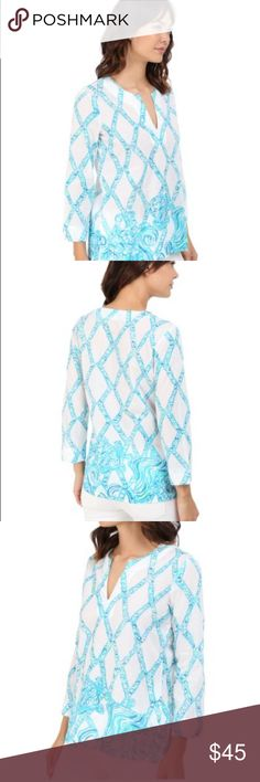 Lilly Pulitzer Amelia Island Tunic This is in turtle cove print and completely new. Lilly Pulitzer Tops Tunics