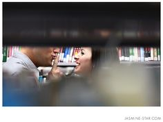 Love this library couple shot!!!  Jasmine Star. Engagement Highlights : 2010