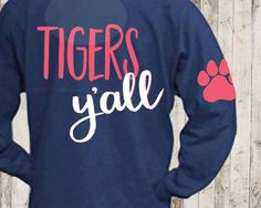 A personal favorite from my Etsy shop https://www.etsy.com/listing/510485223/tigers-yall-svg-yall-svg-elbow-patch-svg