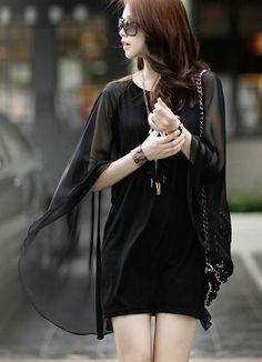 Sheer, flowy dress.  Love it.