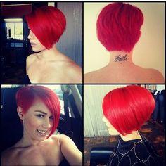 Mooi rood is zeker niet lelijk! De 11 mooiste rode korte kapsels van dit moment…