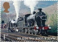steam engine stamp