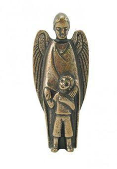 Figur Schutzengel mit Kind Shops, Kind, My Guardian Angel, Christian Gifts, Mandala Rocks, Blessing, Figurine, Tents, Retail