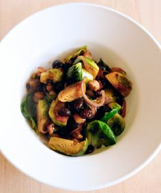 brussel sprouts w bacon and raisins