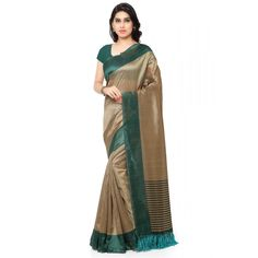 This beautiful traditional saree is sure to make you feel like an ethnic diva. We suggest that you team it with matching jewellery and heels for a great look. Traditional saree, has a contrast solid border, striped and tassel detail on the pallu end https://www.bucksbenefit.com/sarees/saree-by-fabric/tussar-silk #saree, #festivalsaree, #bucksbenefit #onlinesaree, #desigersaree, #partywearsaree, #colorfulsaree, #handworksaree