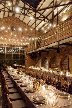 Industrial Reception Venue Ideas With Brick Walls |