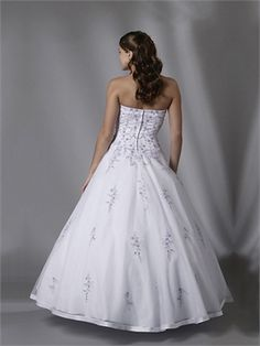 Halter Ball Gown Open Back White With Embroidery Prom Dress PD0340  http://www.simpledresses.co.uk