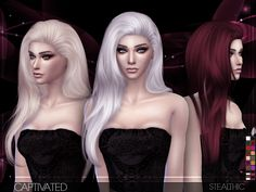 Stealthic: Captivated hairstyle - Sims 4 Hairs - http://sims4hairs.com/stealthic-captivated-hairstyle/
