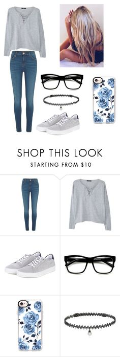 """""""A night in the school"""" by kendall-bostic ❤ liked on Polyvore featuring River Island, MANGO, Barbour, Casetify and BERRICLE"""