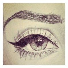 Eyes drawing sketches tutorial, doodle drawings, pencil drawings, still life sketch, design Realistic Eye Drawing, Drawing Eyes, Drawing Sketches, Cool Drawings, Painting & Drawing, Sketching, Eye Sketch, Girly Drawings, Amazing Drawings