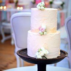 Understated Buttercream Wedding Cake