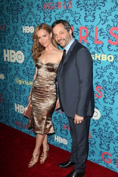 Judd Apatow, Leslie Mann at Girls premiere