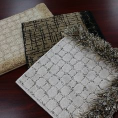 Some Anderson Tuftex custom rug samples!  Any carpet style can be made into a custom area rug. Any size too!
