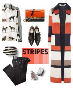 """""""stripes"""" by marina-kar ❤ liked on Polyvore featuring Dorothy Perkins, STELLA McCARTNEY, Gap, Gucci, Burberry, BRAX, Mulberry and BoldStripes"""