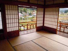 日本家屋、障子、縁側