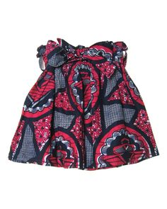 Has my name on it - Fair Trade African Print Ruched Skirt