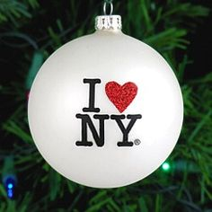 I Love Ny Gl Ornament