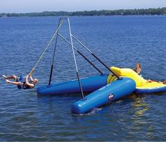 The Floating Rope Swing - Hammacher Schlemmer from Hammacher Schlemmer. Shop more products from Hammacher Schlemmer on Wanelo. Hammacher Schlemmer, Summer Fun, Summer Time, Stand Up Paddle Board, Lake Toys, Living Pool, Rope Swing, Lake Powell, My Pool