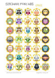 OWL REWARD #STICKERS - FREE PRINTABLES