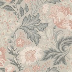Wallpaper Ava Grey/Black // Kubel grey is a new colourway of Sandbergs classic pattern. A large patterned floral wallpaper that works well in bed Linen Wallpaper, Luxury Wallpaper, Wallpaper Size, Print Wallpaper, Flower Wallpaper, Designer Wallpaper, Pattern Wallpaper, Wallpaper Designs, Accent Wallpaper