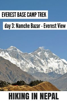 Hiking to Mount Everest Base Camp day 3 - from Namche Bazar to Everest View Hotel. A detailed hiking report on this amazing hike. Read more about hiking in Nepal on my website!