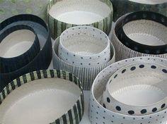 Handbuilt stoneware from Sweden's Bibbi Forsman  via Vitrified Studio