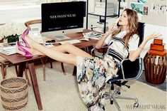 Victoria's Secret angel, Behati Prinsloo poses as a fashion editor in this exclusive Who What Wear editorial