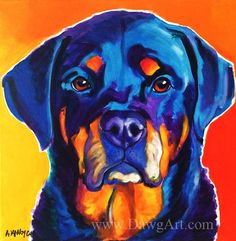 Hey, I found this really awesome Etsy listing at https://www.etsy.com/listing/245011827/rottweiler-pet-portrait-dawgart-dog-art