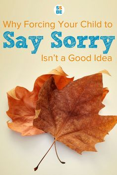 Forcing Your Child to Say Sorry: Why It May Not Be a Good Idea