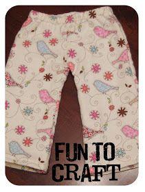 It's FUN to craft!: DIY: Pajama Pants