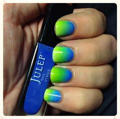 Julep's Fan Nail of the Day by Anna