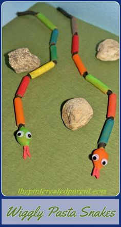 Wiggly Pasta Snakes