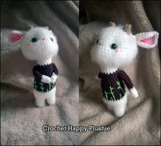 PATTERN Lisa the Goat / amigurumi crochet doll plushie / ebook / how to tutorial