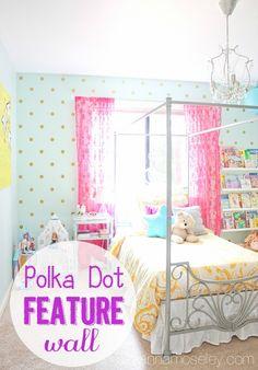 Girl's polka dot bedroom wall - Ask Anna