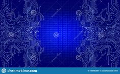 Technology Background, Futuristic Technology, Circuit Board, Cyber, Coding, Concept, Abstract, Wallpaper, Illustration