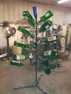 """But even worse is this """"tree"""" made of Jagermeister. (Can you feel the chunks rising? Funny Christmas Tree, Christmas Tree Images, Christmas Decorations For The Home, German Christmas, Christmas Pictures, Christmas Humor, Christmas Themes, Merry Christmas, Best Funny Pictures"""