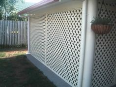 Patio World - Only the best will do - Lattice Enclosed Carport, Enclosed Porches, Small Porches, Carport Canopy, Carport Garage, Carport Patio, Outdoor Privacy, Outdoor Spaces, Outdoor Living
