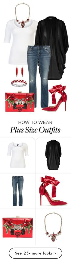 """""""Start with the basics: #3 - plus size"""" by gchamama on Polyvore featuring Taking Shape, City Chic, Alexander McQueen, GEDEBE, Gianvito Rossi, Mark Davis and Belle Etoile"""