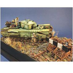 Descrição:Churchill Mk.III Avre Part1  By: Choi Myung-seon. From: mmzone  #scalemodel #plastimodelismo #miniatura #miniature #miniatur #hobby #diorama #scalemodelkit #plastickits #usinadoskits #udk #maqueta #maquette #modelismo #modelism