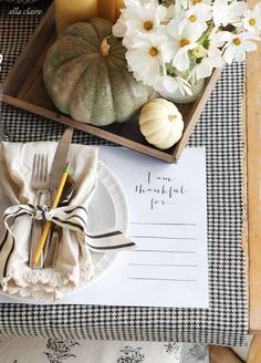 free thanksgiving printable placemats