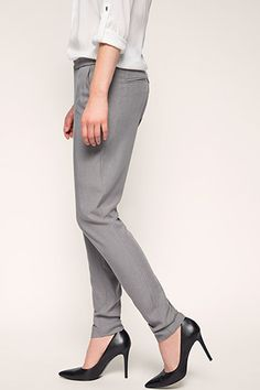 Esprit / smart elasticated-waist fashion trousers