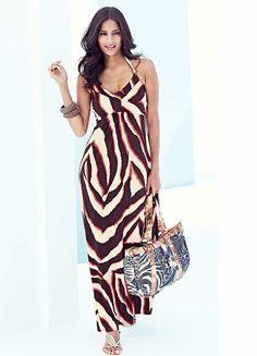 Zebra Print Beach to Bar Dress