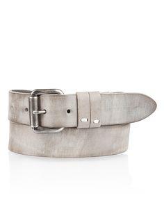 Grey leather belt by Cowboysbelt