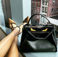 Fendi Peekaboo and Valentino Rockstud shoes