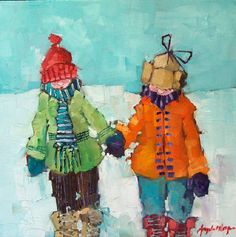Artist: Angela Morgan, Title: study- snow plow
