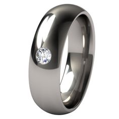 $215 with black diamond - The Eclipse with a single 3mm gem is crafted entirely out of 6AL/4V titanium.  The inset diamond or gemstone that you choose can be very sentimental and a very appreciated gesture.