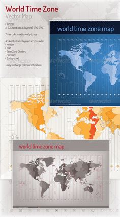 Vector based time zone maps